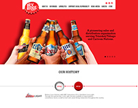 web site design for a beverage company