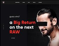 WWE.COM redesign