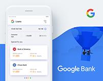 Google Bank Application Concept