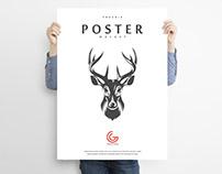 Free Man Holding Poster Mockup