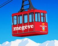 Megeve Ski Resort Poster