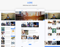 LORE Personal Blog Template