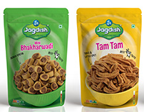 Jagdish Snacks Packaging design Range