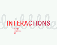Interaction design 2016-17 / Dribbble collection