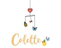 Girl Birth Card: Collete