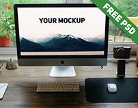 Free Realistic iMac Mockup