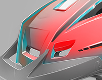 XC Helmet, photoshop rendering tutorial