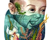 babyblue watercolor