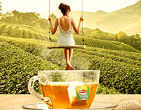 Lipton Green tea - a taste of relaxing life