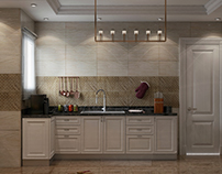 Neo classical kitchen design at con creative office