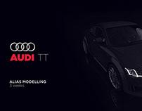 Audi TT alias modelling & rendering