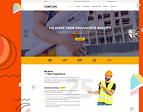 Construc- One Page PSD Template