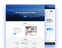 MAX l One Page PSD Template