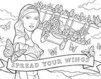 OASIS Colouring-in Fashion Illustration Postcards