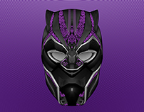 Black Panther Vector Line Blend Illustration