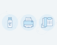 Icons - Printer-USB-Phone - Free download