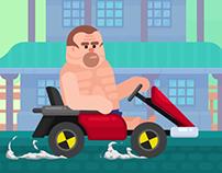 Happy Racing Characters - Graham