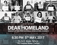 Dear Homeland Event Branding for IMA