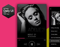 Daily UI Challenge #009 Music Player
