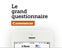 Maquette smartphone - Questionnaire