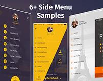 6+ Side menu Mobile APP UI &UX Inspiration Interface.