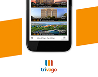 Redesign user experience of Trivago App