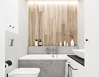 Master and small bathroom / July 2019