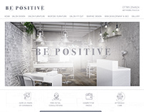BE POSITIVE SALONS - WEBSITE DESIGN