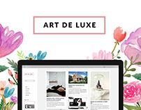 ART DE LUXE // WEBSITE // BRANDING