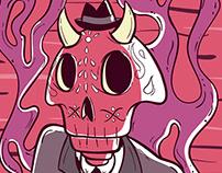 """Cartel ilustrado """"Día De Muertos 2018"""""""