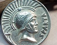Spartan medallion