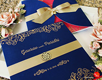 Wedding Invite Design for Gaurav & Paridhi