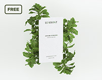 Free business card mockup with ficus