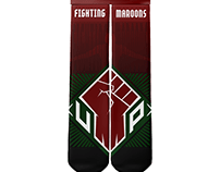 UP Fighting Maroons Sports Socks Project
