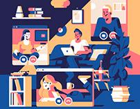 Editorial illustrations 2020