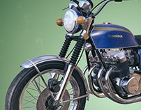 Honda CB 750 Four - 3D Model