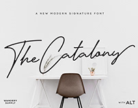 Catalony Signature Typeface