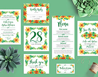 Free Tropical Wedding Invitation Templates Package