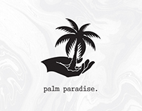 palm paradise. wht marble (towel Mock-up)