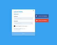 MATERIAL LOGIN PANEL - FREE DOWNLOAD
