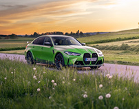 Sunset Drive trough Bavaria with the BMW M3 Competition