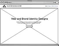Portfolio site wirefram