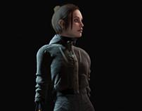Cyberpunk Girl Realtime Study