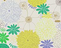 Dahlia Floral Print