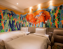 牆面插畫繪製|秝芯旅店