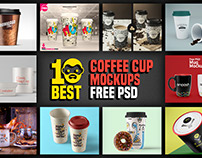 10 Best Free PSD Coffee Cup Mockups 2017