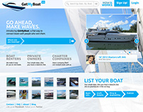 Get My Boat // UI+UX Wireframes and Design