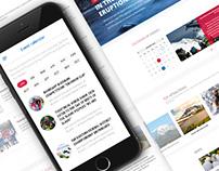 Kamchatka travel website design