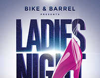 Ladies Night Poster Design
