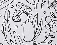 Notýsek pro děti s omalovánkami
